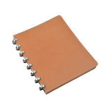 Atoma Pure Disc-Bound Refillable A5+ Notebook Natural Leather