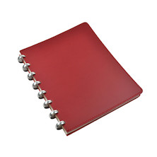 Atoma Pure Disc-Bound Refillable A5+ Notebook Red Leather