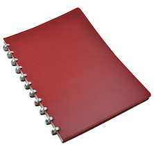 Atoma Pure Disc-Bound Refillable A4 Notebook Red Leather