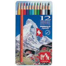 Caran d'Ache Prismalo Colouring Pencils Tin of 12