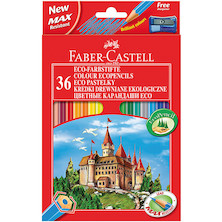 Faber-Castell Eco Colouring Pencils Box of 36 + Free Sharpener