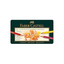 Faber-Castell Polychromos Coloured Pencil Set of 12