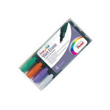 Pentel Wet Erase Chalk Marker Pen SMW26 Set of 4 DFVW