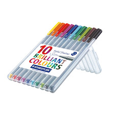 Staedtler Triplus Fineliner Pen Assorted Box of 10 334SB10