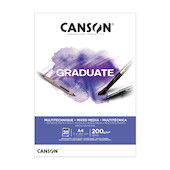 Canson Graduate White Mixed Media Pad A4