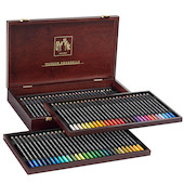 Caran d'Ache Museum Aquarell Watercolour Pencil Wooden Box of 76 Assorted + 3 Technalo + 1 Grafwood