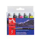 Caran d'Ache Gouache Studio Colour Tubes 10ml Set of 5