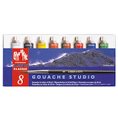Caran d'Ache Gouache Studio Colour Tubes 10ml Set of 8