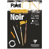 Clairefontaine Paint On Black Pad A2