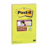 Post-it Super Sticky XXXL Lined Notes Neon Set of 2