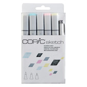 Copic Sketch Marker Pen Set of 6
