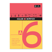Daler-Rowney Red & Yellow Pad A6
