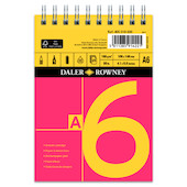 Daler-Rowney Red & Yellow Spiral Pad A6