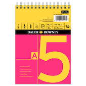Daler-Rowney Red & Yellow Spiral Pad A5