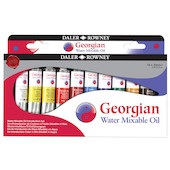 Daler-Rowney Georgian Water Mixable Oil Paint Introduction Set of 10