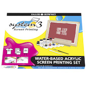 Daler-Rowney System3 Acrylic Paint Screen Printing Water Based Set