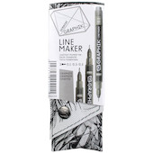 Derwent Graphik Line Maker Graphite Grey Set of 3