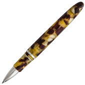 Esterbrook Estie Rollerball Pen Tortoise With Chrome Trim