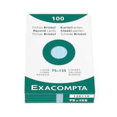 Exacompta Blue 5 x 3 (125 x 75) Record Cards Pack of 100