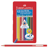 Faber-Castell Colour Grip Pencils Tin of 12