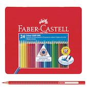 Faber-Castell Colour Grip Pencils Tin of 24