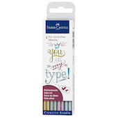 Faber-Castell Pitt Artist Pen Metallic Set of 4 Assorted