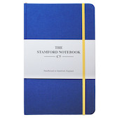Stamford Notebook Company The Limited Edition Woven Cloth Notebook Quarto Medium Royal Blue