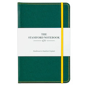 Stamford Notebook Company Stitched Recycled Leather Notebook Quarto Medium Green