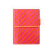 Filofax Domino Pocket Organiser Patent Orange/Pink
