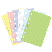 Filofax Pocket Refill Paper Assorted Pastel