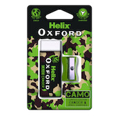 Helix Oxford Camo Eraser and Sharpener Set Green