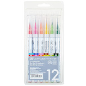 Kuretake Zig Clean Color Real Brush Pen RB-6000A 12 Colour Set