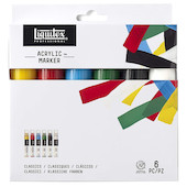 Liquitex Pro Paint Marker Set of 6 Wide
