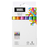 Liquitex Pro Paint Marker Set of 6 Fine Vibrant
