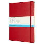 Moleskine Classic Collection Extra Large Notebook 190x250 Scarlet Red