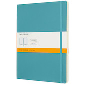 Moleskine Soft Cover Extra Large Notebook 190x250 Reef Blue