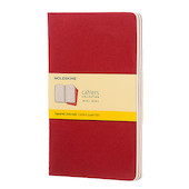 Moleskine Cahier Large Journal 135x210 Cranberry Red
