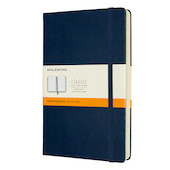 Moleskine Classic Collection Expanded Hardcover Large Notebook Sapphire Blue