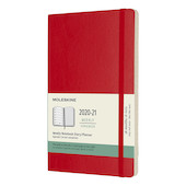 Moleskine Softcover Large Weekly 18 month Diary 2020-2021 Scarlet Red