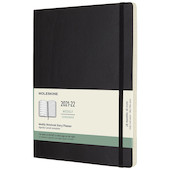 Moleskine Softcover Extra Large Weekly 18 Month Diary 2021-2020 Black