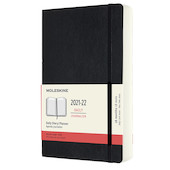 Moleskine Softcover Large Daily 18 Month Diary 2021-2022 Black