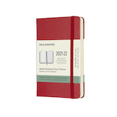 Moleskine Softcover Large Weekly 18 Month Diary 2021-2022 Scarlet Red