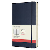 Moleskine Hardcover Large Daily Diary 2022 Sapphire Blue