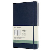Moleskine Hardcover Large Weekly Diary 2022 Sapphire Blue