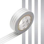 mt Washi Masking Tape 15mm x 10m Border Silver 2