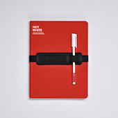 Nuuna Not White L Light Recycled Leather Cover Notebook Red