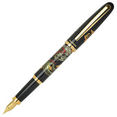 Platinum Modern Maki-e Fountain Pen Vicoh Soryu Black