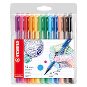 STABILO pointMax Colouring Pen Wallet of 12 Assorted