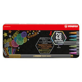 STABILO Pen 68 Metallic Assorted Tin of 8