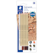 Staedtler Mars Lumograph Pastel Pencil Assorted Set of 5